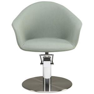fauteuil de coiffure contemporain / en acier / en polyuréthane / personnalisable
