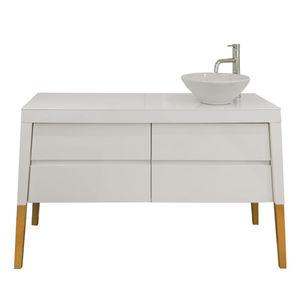 meuble avec lavabo pour salon de coiffure