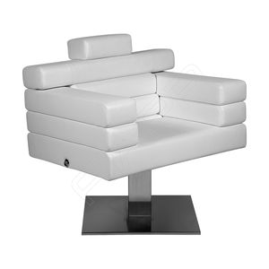 fauteuil de coiffure en tissu / en cuir / en acier inoxydable / en simili cuir
