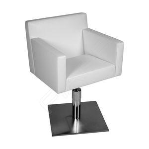 fauteuil de coiffure contemporain / en tissu / en cuir / en acier inoxydable