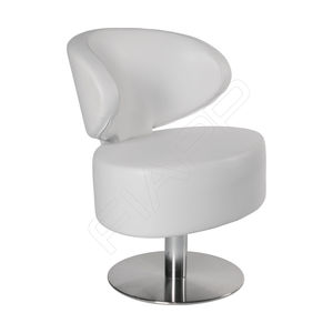 fauteuil de coiffure en métal chromé