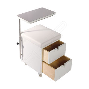 table de manucure avec rangement intégré