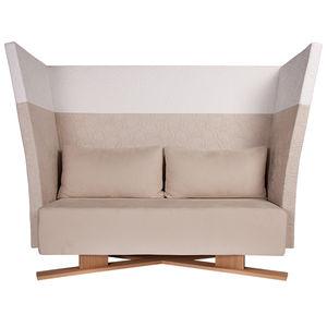 canapé contemporain / en cuir / bois / professionnel