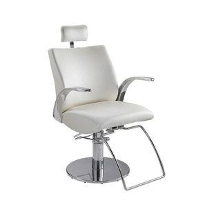 fauteuil de maquillage en simili cuir / en métal / réglable / avec repose-tête