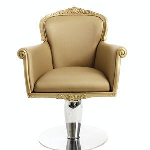 fauteuil de maquillage en simili cuir / piètement central