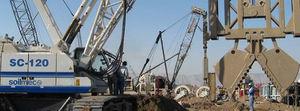 blindage de fouilles moulé