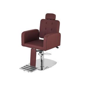 fauteuil de barbier en simili cuir / avec repose-pieds / avec repose-tête / piètement central