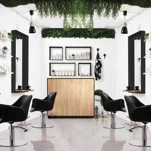 banque d'accueil en MDF / stratifiée / pour salon de coiffure