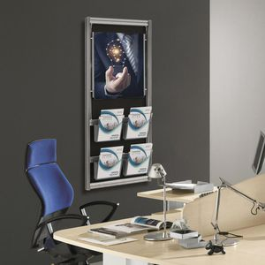 présentoir mural / en aluminium / à panneau / pour bureau