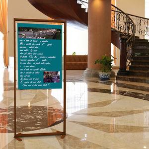 présentoir pour brochures / en aluminium / pour hôtel / pour commerce