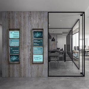présentoir mural / en aluminium / pour hôtel / pour bureau