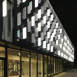 panneau décoratif pour façade / en résine / verre de synthèse / cristal acrylique