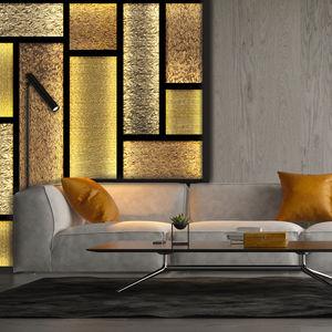 panneau décoratif de revêtement / d'ameublement / en résine / verre de synthèse