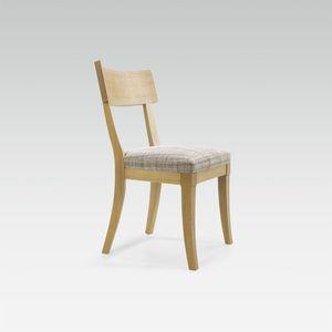 chaise contemporaine / tapissée / en tissu / en hêtre
