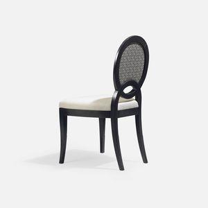 chaise classique / tapissée / médaillon / en tissu