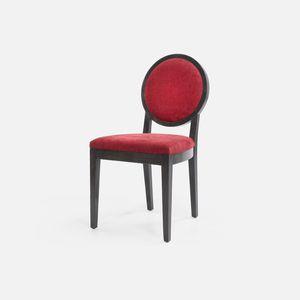 chaise classique / tapissée / avec accoudoirs / médaillon