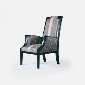fauteuil classique / en tissu / en cuir / en bois