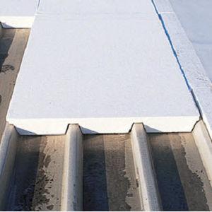 isolant thermique / en polystyrène expansé / pour toiture métallique / pour toiture-terrasse