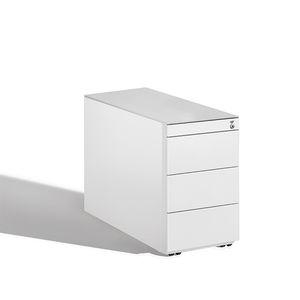 caisson de bureau en acier / en bois / en verre / à 4 tiroirs