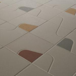 mosaïque d'intérieur / au sol / en grès cérame / carrée