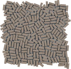 mosaïque d'intérieur / au sol / en grès cérame / rectangulaire