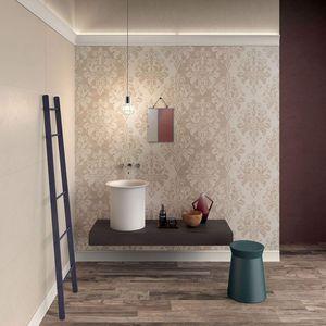 carrelage d'intérieur / mural / en grès cérame / rectangulaire