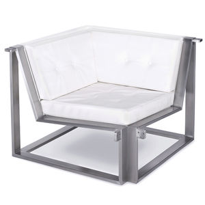 fauteuil contemporain / en Batyline® / en acier inoxydable / modulable