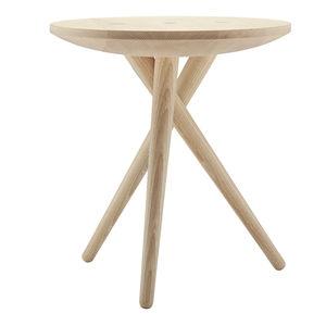 table d'appoint contemporaine / en chêne / en noyer / en frêne