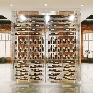 vitrine réfrigérée armoire / éclairée / pour le vin / sur mesure