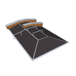 demi-pyramide pour skatepark