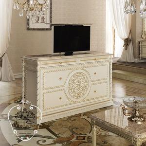 meuble TV de style / en bois massif