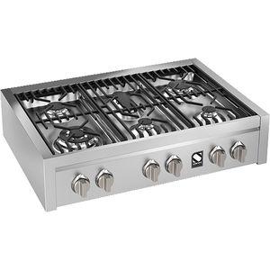 table de cuisson à gaz / avec gril intégré / en fonte / wok