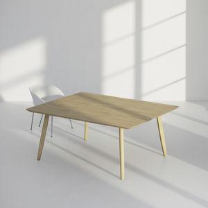 table de conférence design original / en chêne / en bois massif / en frêne