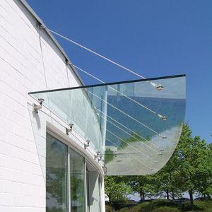 auvent d'entrée / pour escalier d'extérieur / pour bâtiment tertiaire / pour terrasse