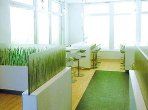 panneau décoratif en plastique / pour agencement intérieur / translucide / professionnel.