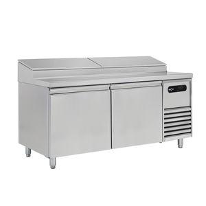 table de préparation pour pizza / pour sandwiches / en inox / réfrigérée