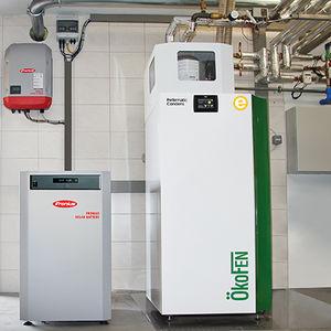 chaudière à granulés / résidentielle / à condensation