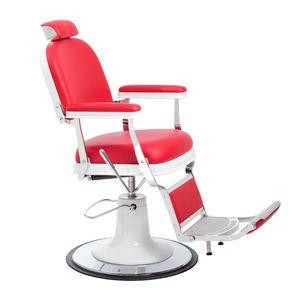 fauteuil de barbier en métal chromé