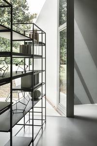 étagère contemporaine / en bois / en métal / en bois peint