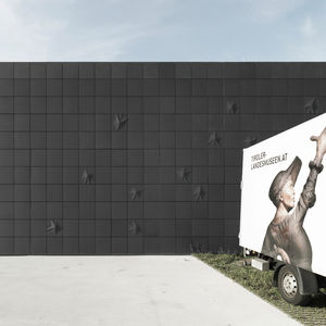 bardage en panneaux / en composite ciment verre / en béton / texturé