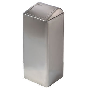 poubelle hygiénique / en inox / à couvercle basculant / contemporaine