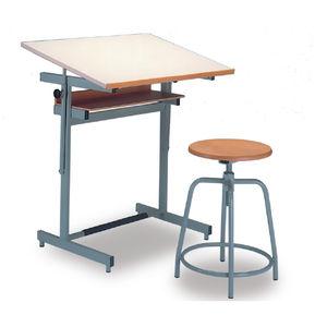table à dessin en bois / en métal / en matières recyclées / rectangulaire