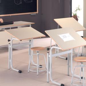 table à dessin en métal