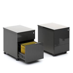 caisson de bureau stratifié / à 3 tiroirs / à 2 tiroirs / à roulettes
