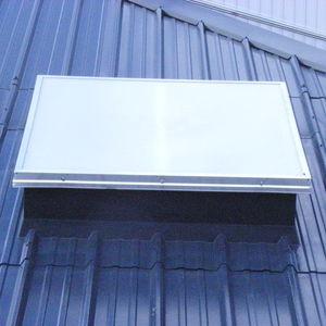 lanterneau d'éclairement pour bâtiments / pour couverture sèche / en polyester