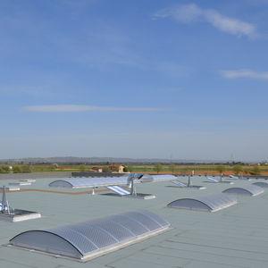 toit vitré en aluminium / en polycarbonate