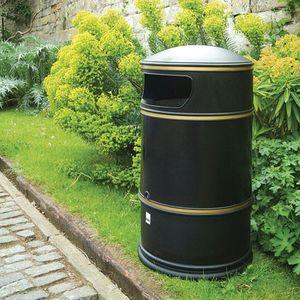 poubelle publique / en polyéthylène / classique