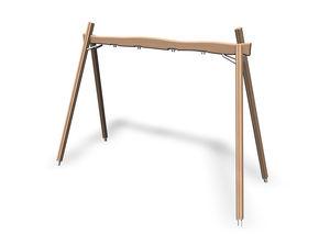 balançoire en bois / pour parc de jeux