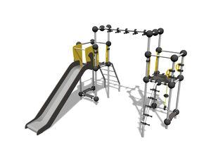 structure de jeu pour aire de jeux / en métal