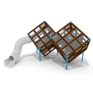 structure de jeu pour aire de jeux / pour établissement public / en bois / en HPL